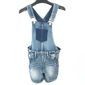 Silver Nisha denim shorts overall